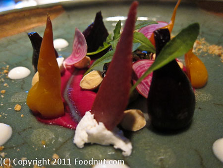 Heirloom Beet Salad with Local Goat Cheese and Toasted Almonds was ...